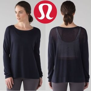 Lululemon Well Being Sweater Midnight Navy M/L